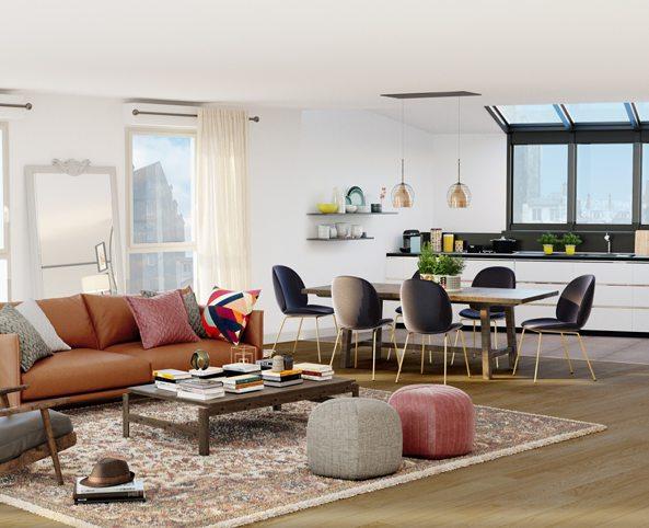 achat appartement neuf paris 18 me immobilier neuf paris 18 me. Black Bedroom Furniture Sets. Home Design Ideas